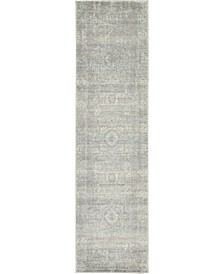 "Wisdom Wis3 Silver 2' 7"" x 10' Runner Area Rug"