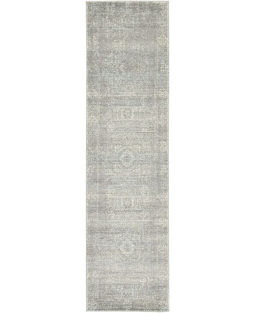 "Bridgeport Home Wisdom Wis3 Silver 2' 7"" x 10' Runner Area Rug"