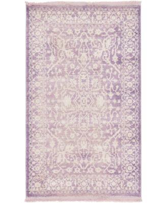 "Norston Nor1 Purple 3' 3"" x 5' 3"" Area Rug"