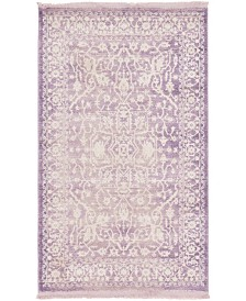 "Bridgeport Home Norston Nor1 Purple 3' 3"" x 5' 3"" Area Rug"