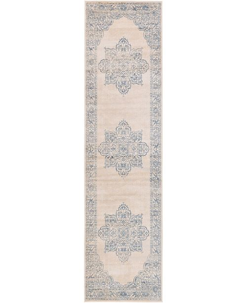 "Bridgeport Home Caan Can4 Beige 2' 7"" x 10' Runner Area Rug"
