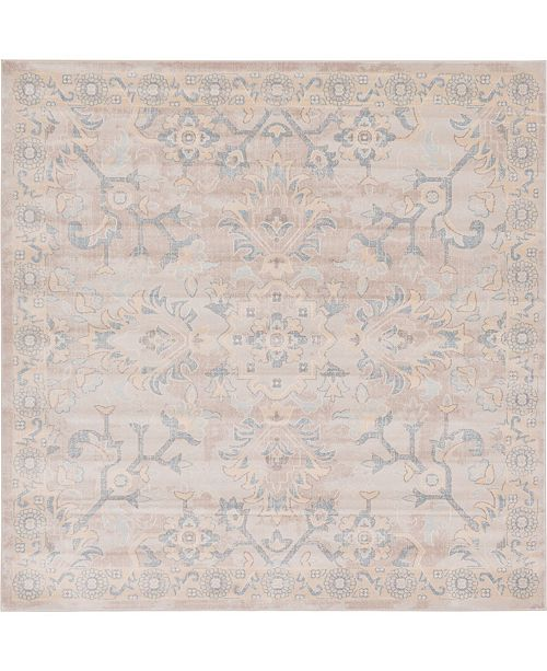 Bridgeport Home Caan Can7 Gray 8' x 8' Square Area Rug