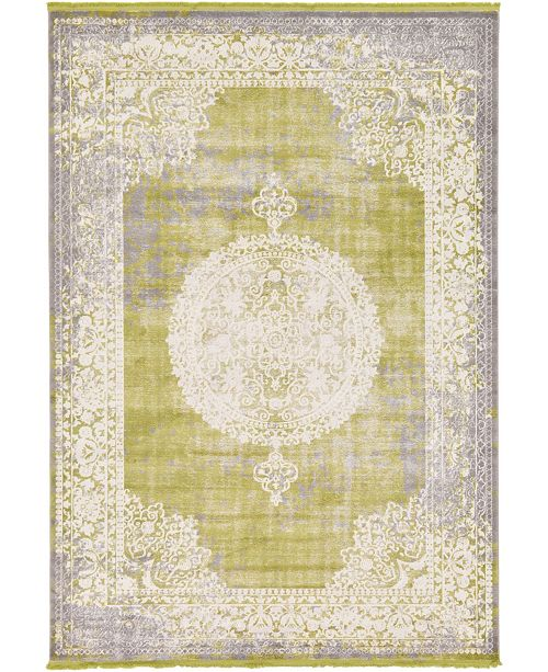 Bridgeport Home Norston Nor4 Light Green 7' x 10' Area Rug