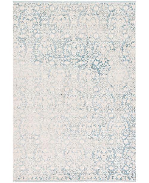 "Bridgeport Home Norston Nor5 Light Blue 8' x 11' 4"" Area Rug"