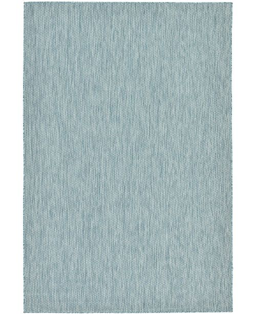 Bridgeport Home Pashio Pas6 Aquamarine 6' x 9' Area Rug