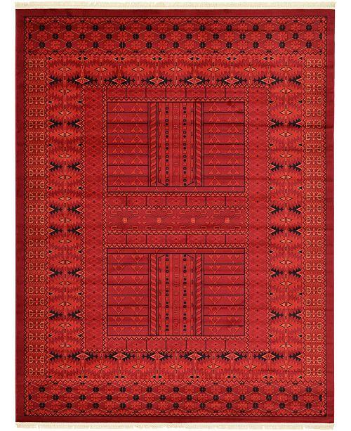 Bridgeport Home Vivaan Viv1 Red 9' x 12' Area Rug