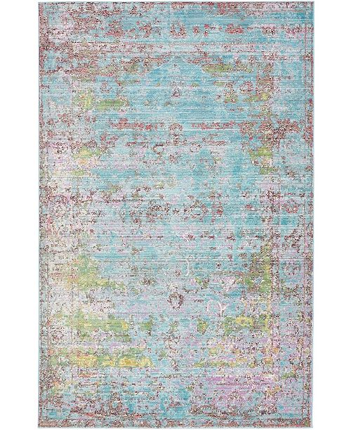 Bridgeport Home Malin Mal1 Blue 5' x 8' Area Rug