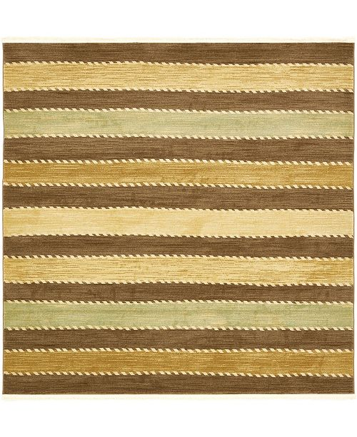 Bridgeport Home Ojas Oja1 Brown 8' x 8' Square Area Rug