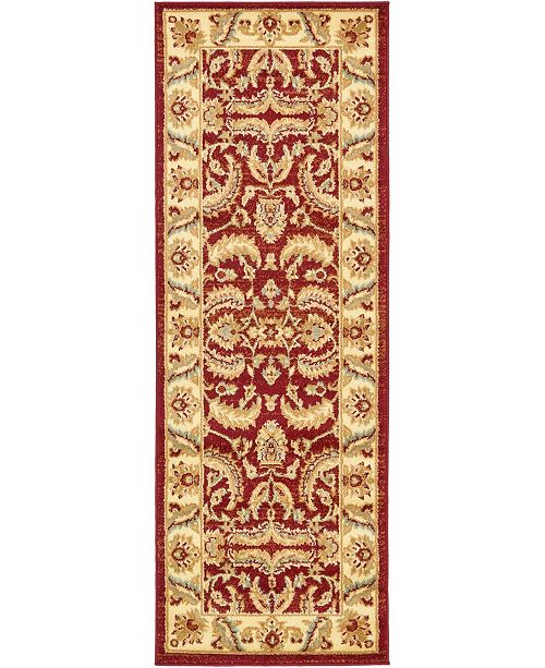 "Bridgeport Home Passage Psg1 Red 2' 2"" x 6' Runner Area Rug"