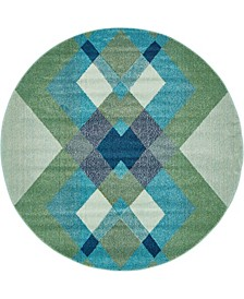 Global Rug Design Newwolf New4 Green Area Rug Collection