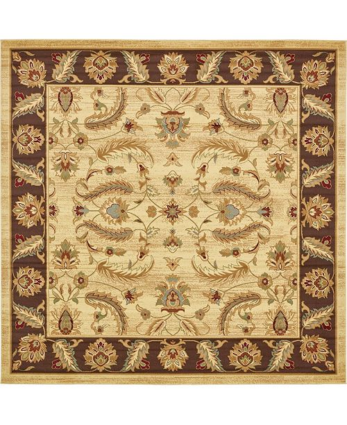 Bridgeport Home Passage Psg1 Ivory 10' x 10' Square Area Rug