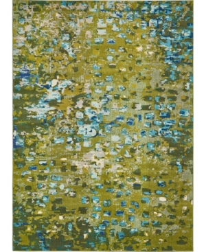 Bridgeport Home Adah Ada1 Green 8' x 11' Area Rug