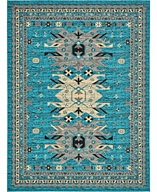 "Bridgeport Home Charvi Chr1 Turquoise 9' 10"" x 13' Area Rug"
