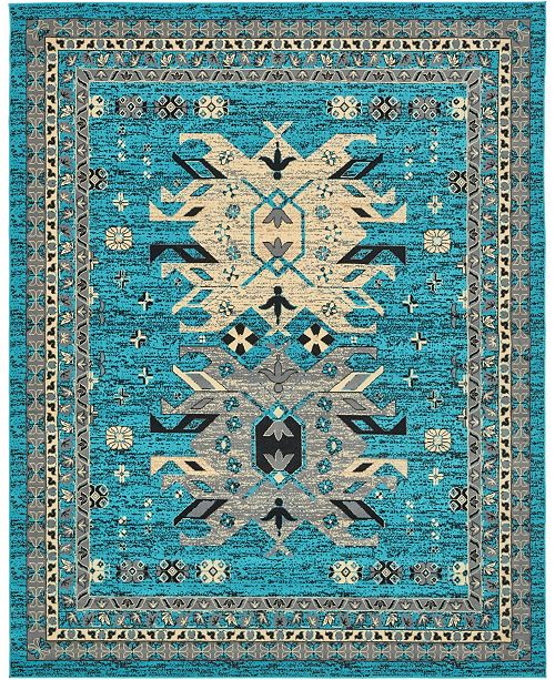 Bridgeport Home Charvi Chr1 Turquoise 8' x 10' Area Rug