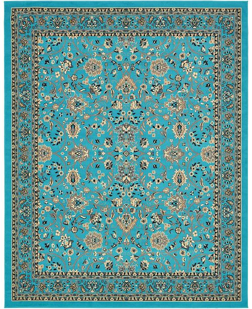 Bridgeport Home Arnav Arn1 Turquoise 8' x 10' Area Rug