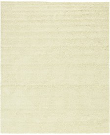 Bridgeport Home Exact Shag Exs1 Pure Ivory 12' x 15' Area Rug