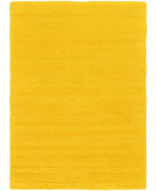 Bridgeport Home Exact Shag Exs1 Tuscan Sun Yellow 7' x 10' Area Rug