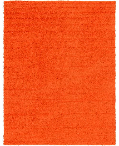 Bridgeport Home Exact Shag Exs1 Tiger Orange 9' x 12' Area Rug