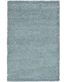 Bridgeport Home Exact Shag Exs1 Light Slate Blue 5' x 8' Area Rug