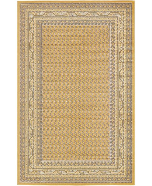 Bridgeport Home Axbridge Axb1 Yellow 5' x 8' Area Rug