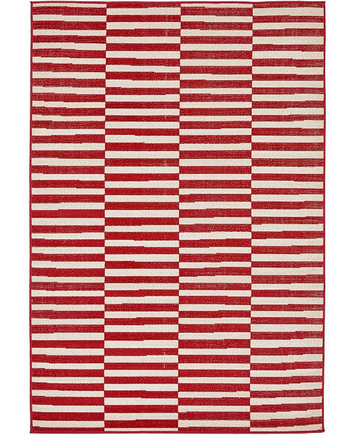 Bridgeport Home Axbridge Axb2 Red 4' x 6' Area Rug