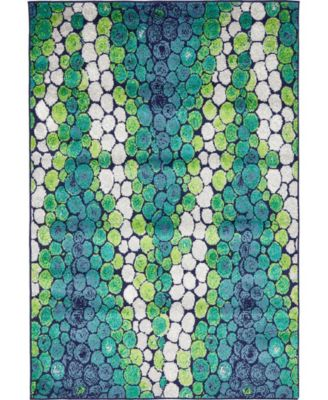 Politan Pol3 Light Green 4' x 6' Area Rug
