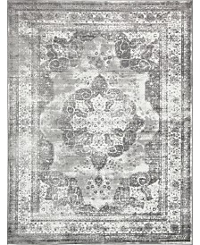 Bridgeport Home Basha Bas2 Gray 9' x 12' Area Rug