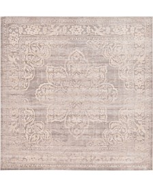 Caan Can4 Gray 8' x 8' Square Area Rug