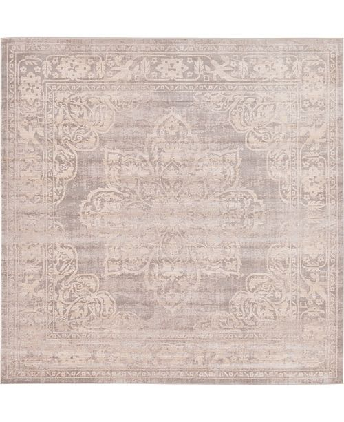 Bridgeport Home Caan Can4 Gray 8' x 8' Square Area Rug