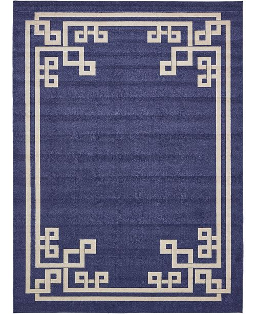 Bridgeport Home Anzu Anz3 Navy Blue 10' x 13' Area Rug