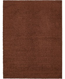 Bridgeport Home Exact Shag Exs1 Chocolate Brown 9' x 12' Area Rug