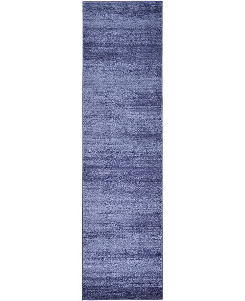 "Bridgeport Home Lyon Lyo3 Navy Blue 2' 7"" x 10' Runner Area Rug"