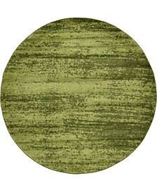 Lyon Lyo3 Green 6' x 6' Round Area Rug
