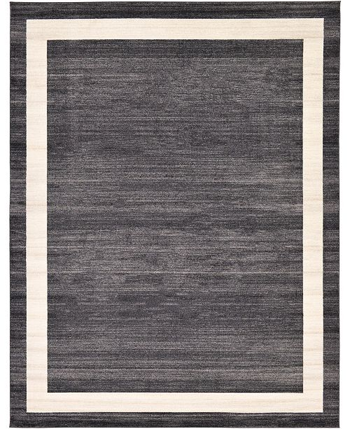 Bridgeport Home Lyon Lyo5 Black 10' x 13' Area Rug