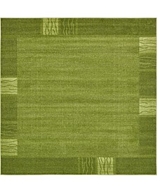 Lyon Lyo1 Green 8' x 8' Square Area Rug