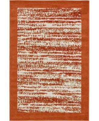 Pashio Pas4 Terracotta 4' x 6' Area Rug