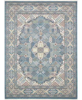 Zara Zar4 Blue 10' x 13' Area Rug