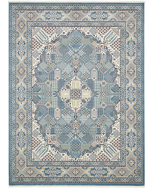 Bridgeport Home Zara Zar4 Blue 10' x 13' Area Rug