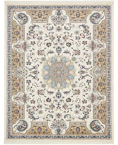Bridgeport Home Zara Zar5 Ivory 8' x 10' Area Rug