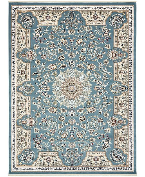 Bridgeport Home Zara Zar5 Blue 10' x 13' Area Rug