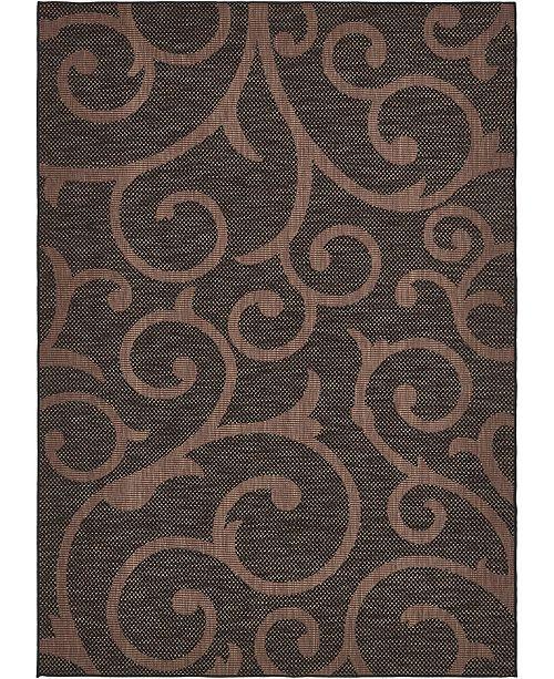 Bridgeport Home Pashio Pas7 Chocolate Brown 6' x 9' Area Rug