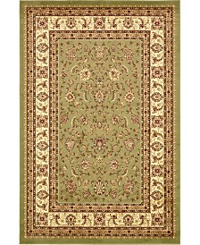 Bridgeport Home Passage Psg4 Green 6' x 9' Area Rug