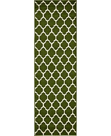 Arbor Arb1 Dark Green 2' x 6' Runner Area Rug