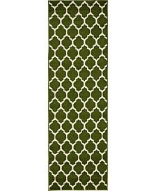 Bridgeport Home Arbor Arb1 Dark Green 2' x 6' Runner Area Rug
