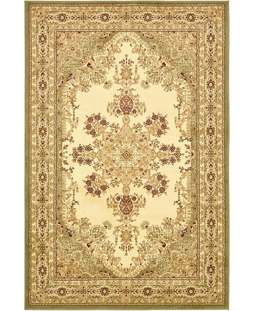 Bridgeport Home Belvoir Blv1 Ivory/Green 6' x 9' Area Rug