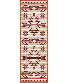 Bridgeport Home Pashio Pas2 Burgundy 2' x 6' Runner Area Rug