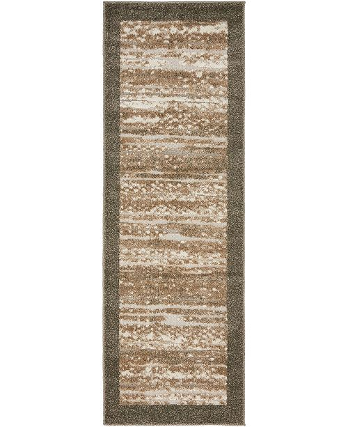 Bridgeport Home Pashio Pas4 Brown 2' x 6' Runner Area Rug