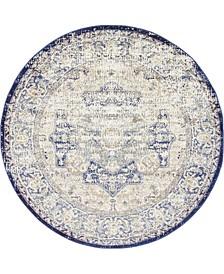 Ananta Ana4 Blue 5' x 5' Round Area Rug