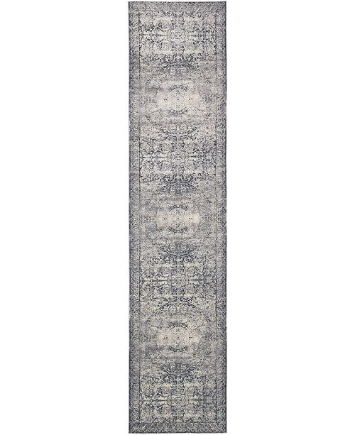 Bridgeport Home Odette Ode7 Dark Blue 3' x 13' Runner Area Rug
