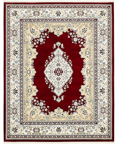 Bridgeport Home Zara Zar1 Burgundy 8' x 10' Area Rug